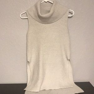 Cowl Neck Sleeve Less Sweater